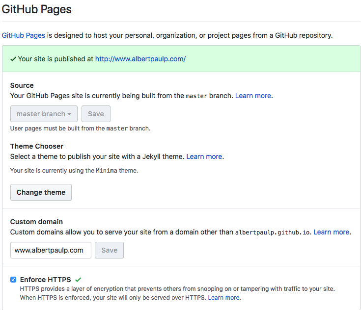 Setting up a static blog with Github Pages | Albert Paul